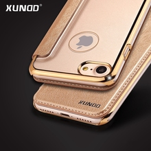 XUNDD Original for iphone 7 Plus Case Leather +PC Transparent Clear  Retro Luxury Cover Flip Cases for Apple iphone 6S 6 Plus
