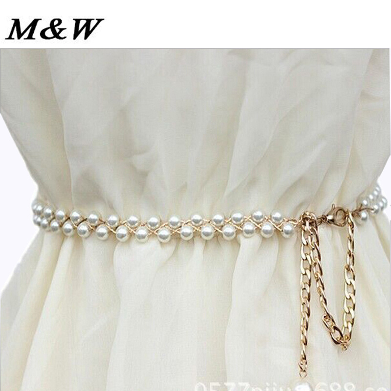 Buy white crystal rhinestone pearl for Wedding dress accessories belt