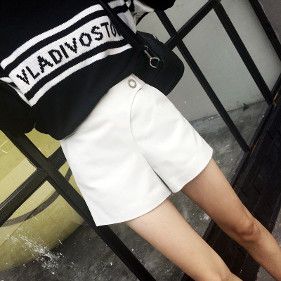 Véritable white G11 Mode Cuir Shorts Black Nouvelle 2018 En Mouton OPESzvgqw