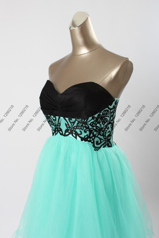 Sexy New Black Aqua Backless Short Prom Dresses Formal A Line ...