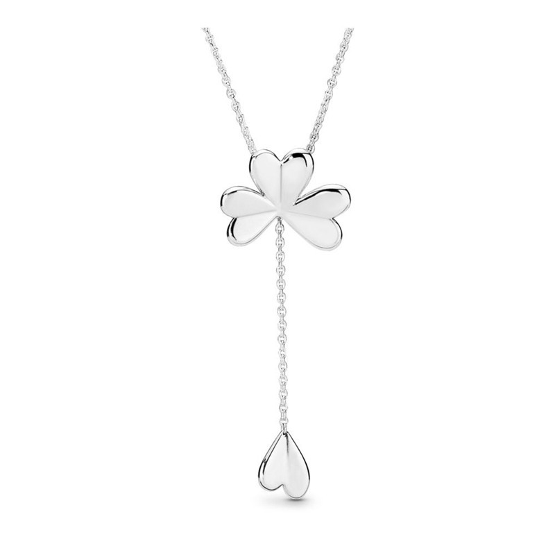 Lucky Four Leaf Clover Statement Necklaces Female 925 Sterling Silver Necklaces Jewelry Long Chain Pendant Necklace 2019 SpringLucky Four Leaf Clover Statement Necklaces Female 925 Sterling Silver Necklaces Jewelry Long Chain Pendant Necklace 2019 Spring