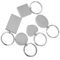IJK0040 Five Piece Set Stainless Steel Keychain KeyRing Hot Sale Can Be Engraved Photo Name Logo