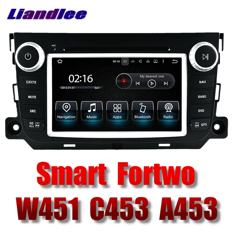 Liandlee Car Multimedia Player NAVI For Mercedes Benz For Smart Fortwo W451 C453 A453 2007~2017 Radio DVD Stereo GPS Navigation 2x 2007 2015 benz smart fortwo w451 canbus led license number plate light lamps ca238