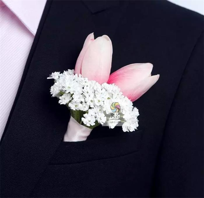New DIY Calla Lilies Corsage Fashion Rose Hydrangea Flowers Grooms Men Boutonniere Pin Brooch Wedding Party Decor 4 Pcs Lot C14 In Artificial Dried
