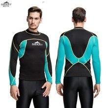 Sbart 739 2mm warm sunscreen cold diving suit font b men b font snorkeling suits diving