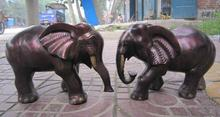 free shipping 12 Chinese Bronze Gilt Animal Lucky Auspicious Elephant Heffalump Pair Statue
