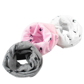 Baby Children Boys Girls Winter Warm Rabbit ORing Collar Cotton Neck Scarf