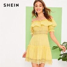 Frilled SHEIN fuera vestidos