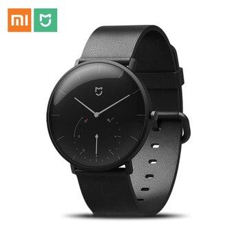 XIAOMI MIJIA QUARTZ Smart Watch Life Waterproof Double Dial Time Alarm Sport Sensor Pedometer Replaceable 20mm Strap Mi Home APP