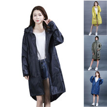 High quality fashion Women Ladies men waterproof Rain Coat Breathable Long Raincoats Portable hooded Raincoat with zipper