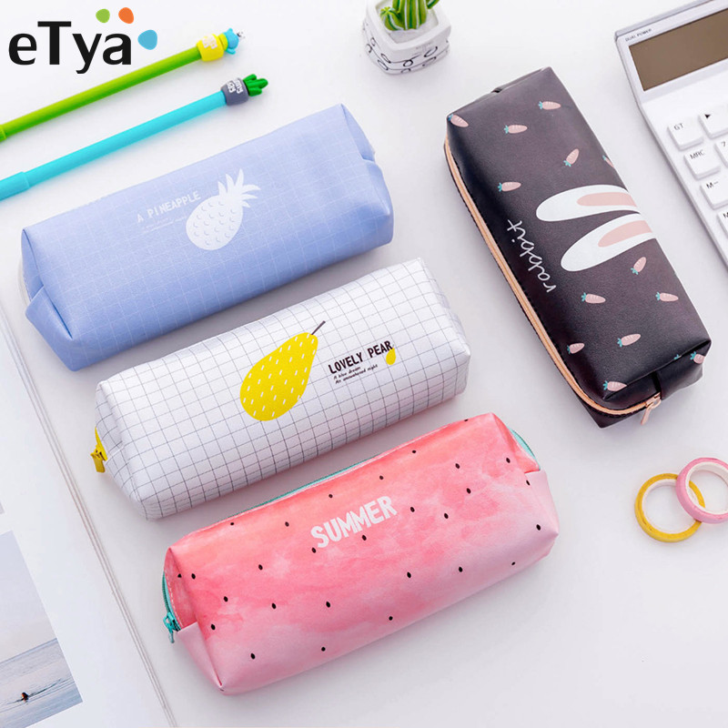 ETya Women Summer Sweet Cosmetic Bag Girl Beauty Brush Pouch Toiletry Kit Small  Purse Makeup Pouch Make Up Travel Organizer Bag