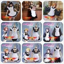 Love Live Tojo Hoshizora Rin Ayase Eli Umi Maki Minami Kotori Niko Honoka Hanayo September SR Coffee Lolita Maid Cosplay Costume цена
