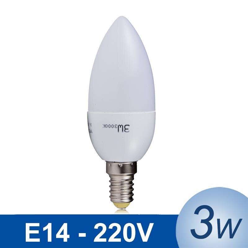 ᐂHot LED Lamp ༼ ộ_ộ ༽ E14 E14 3W SMD2835 LED Light Lampada ③ LED LED Candle Bulb AC220V Long ...