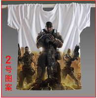 [XHTWCY]Special Offer Freeshipping Novelty Knitted Hot Game Tee Epic Games Shirts Gears of War 3 Official Men T shirt All Sizes