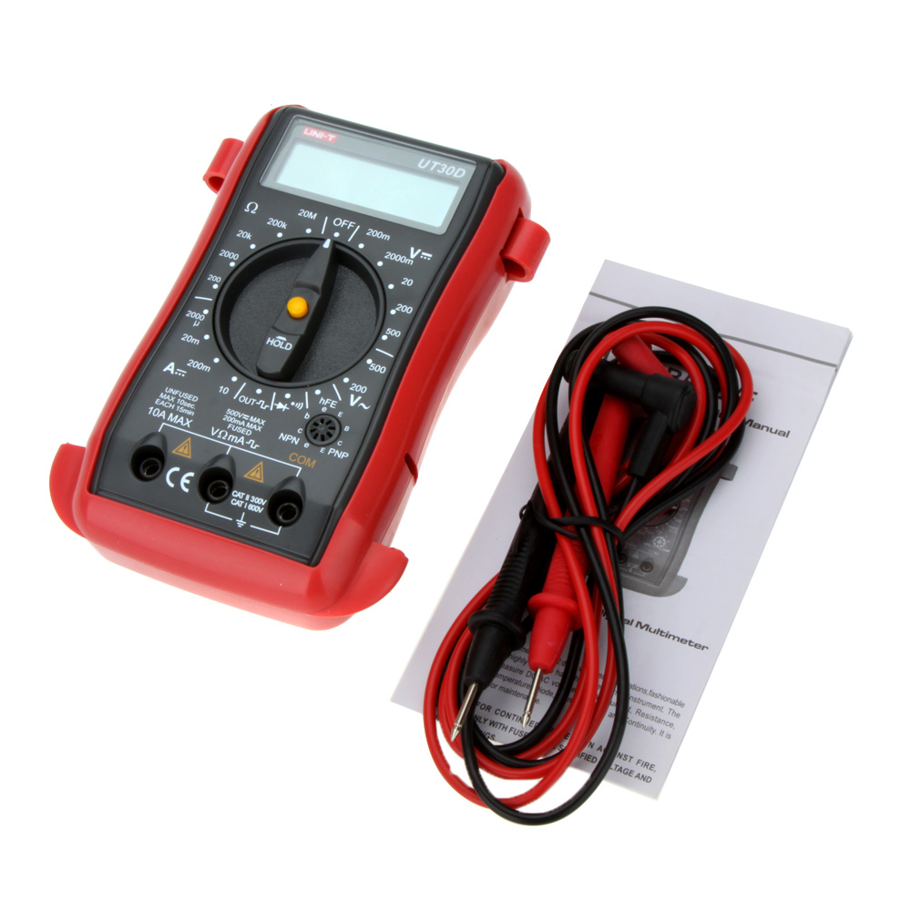 UNI-T UT30D new 100% Palm-Size Digital Multimeters,Handheld LCD Digital Multimeters AC DC Volt DC Ampere Ohm Tester new digital 6 30