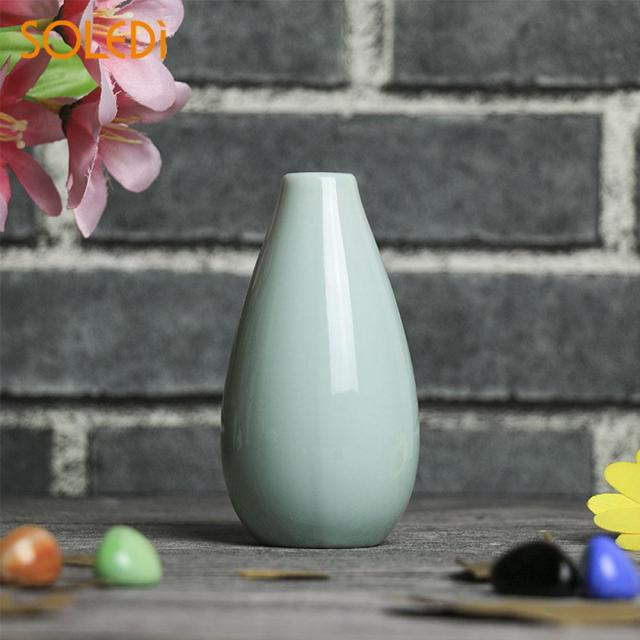 Nordic Home Smooth Ceramic Pottery Flower Pot Mini Vase Wedding Home Office Decor Ornaments Planter Decorative Crafts 5