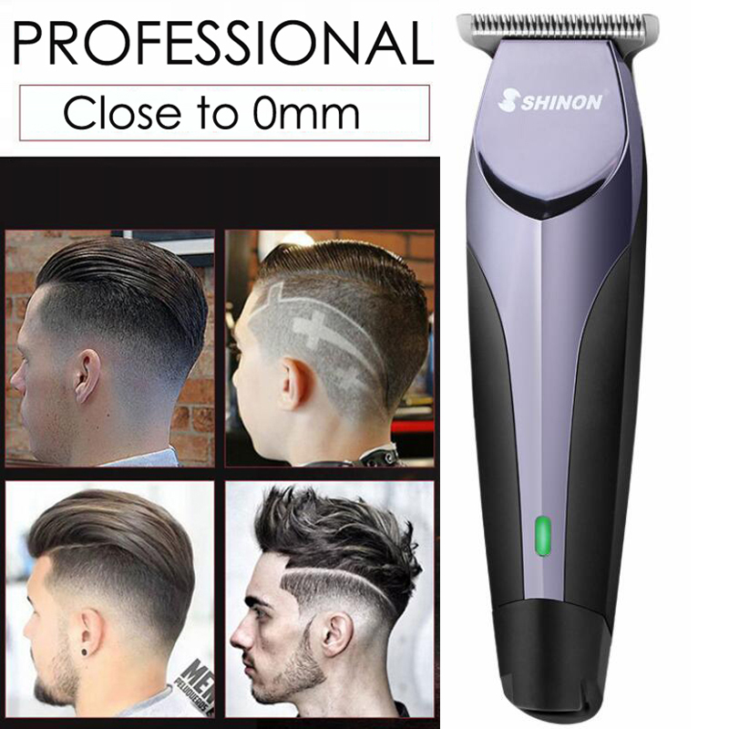Professional Hair Clipper Rechargeable Electric Men Hair Trimmer Home Barber Bald Head Sha