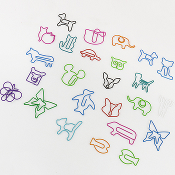 TUTU 30pcs/lot Cute Cartoon Animal Shape Paper Clips Creative Interesting Bookmark Clip Memo Clip Shaped Paper Clips H0006 1