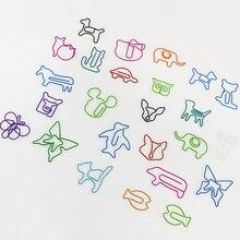 30 шт/Лот Симпатичные Мультяшные животные Зажимы для бумаги