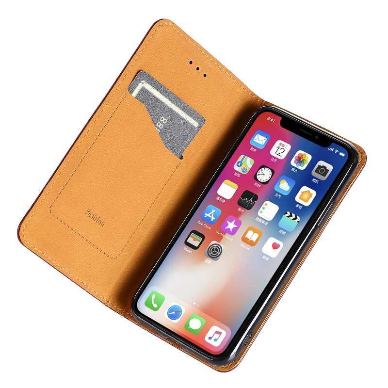 Coque Motorola Moto G7 G8 G6 G5S G5 G4 E5 C Plus P30 P40 Z2 Z3 jugar uno de X4 caso funda con tapa magnética bolsa de cuero