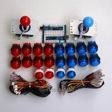 New Arcade MAME DIY Kits Parts Zero Delay USB PC Encoder + 4/8 Way Joystick + 20 X LED Illuminated Push Buttons For Raspberry Pi