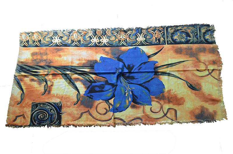 Vintage Big Flower Scarf | Lightweight Scarves | Up to 60% Off Now
