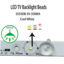 Yongyuekeji 100 шт/лот новый smd led 3535 3В 350мА 1 Вт лампа