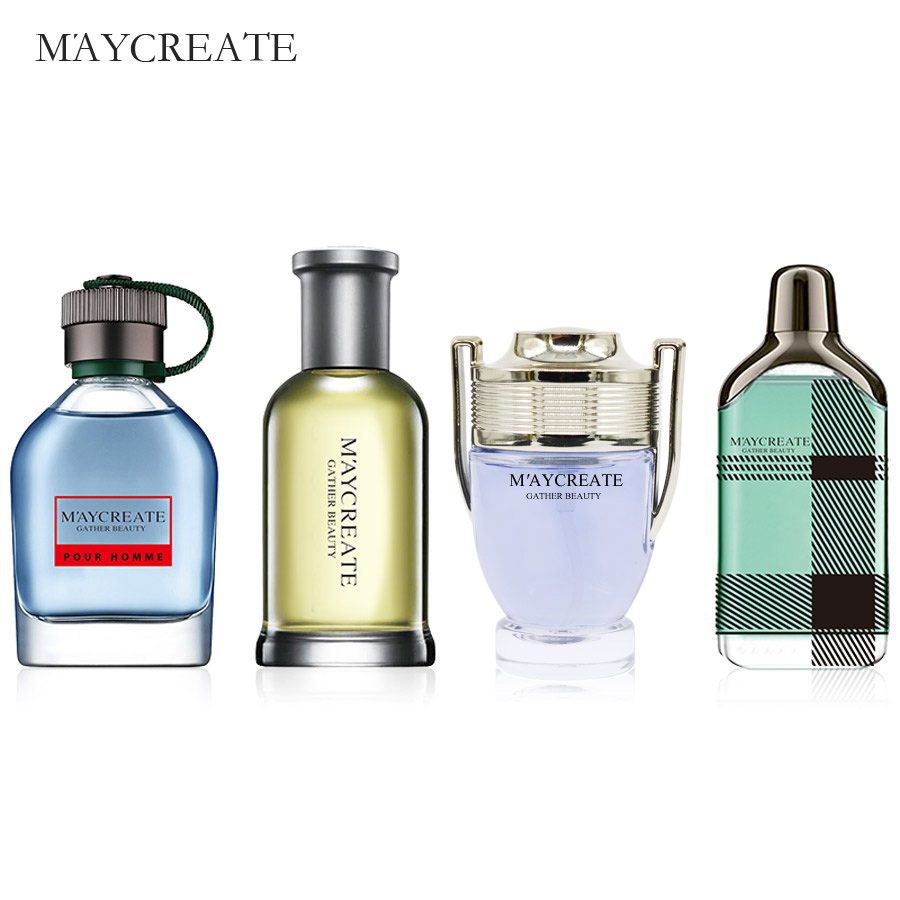 MayCreate Perfumed Men Mini Bottle Portable For Men Female Perfumed Women Parfums Brand Lasting Fragrance Spray Bottle 1Set