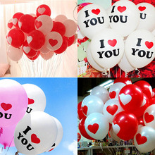10PCS 10Inch Helium Heart Balloons I LOVE YOU Latex Decor Supplies Birthday Decorations Balloon Babyshower Wedding Party