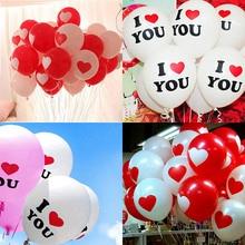 10PCS 10Inch Helium Herz Ballons ICH LIEBE SIE Latex Decor Liefert Geburtstag Dekorationen Ballon Shower Hochzeit Party