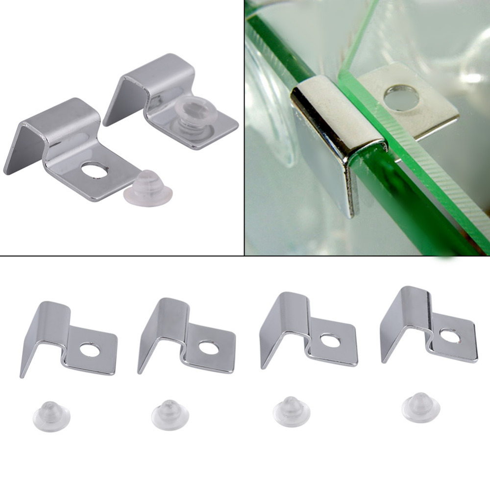 6/8/10/12mm Stainless Steel Aquarium Glass Fish Tank Fixed Cover Clip Clamp Bracket Holder Shelf Lamp Filter Barrel Rack Stand