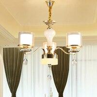Светодиодный хрустальная люстра домой для жизни Обеденная лампа Крытый Современный Люстра Блеск Crystal Light 110 В 240 В