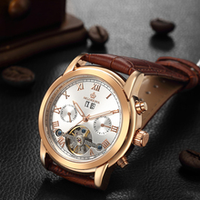 купить MG.ORKINA MG Tourbillon Automatic Watch Luxury Gold Mechanical Self Wind Auto Date Wrist Watches Men montre automatique homme по цене 1888.15 рублей