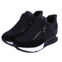 2018 Running Hiking Thick Bottom Platform Wedges Shoes Woman Sports Sneakers Spring Autumn Fashion Ladies Black