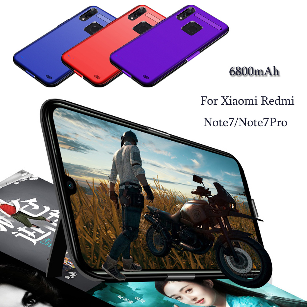6800mAh Power Bank Case For Xiaomi Redmi Note7/Note7Pro Pack Backup Battery Charge For Redmi note7 Pro Battery Case Cove