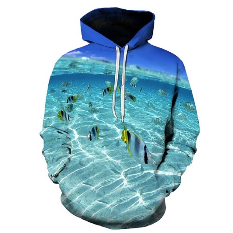 New Anime Hoodies fish 3D print Hoodies Men Womens hooded Sweatshirts Male Pullover Hot Sale Tracksuits Asian size s-6xl