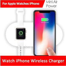 Fast Wireless Charging Pad For iWatch 3 2 AirPower QI Charger For iPhone X 8 8plus