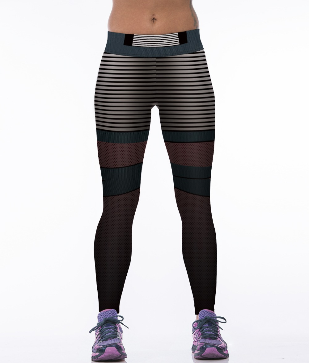 Elegant High Waist Push Up Pants Elastic Leggings Women Sexy Bodybuilding