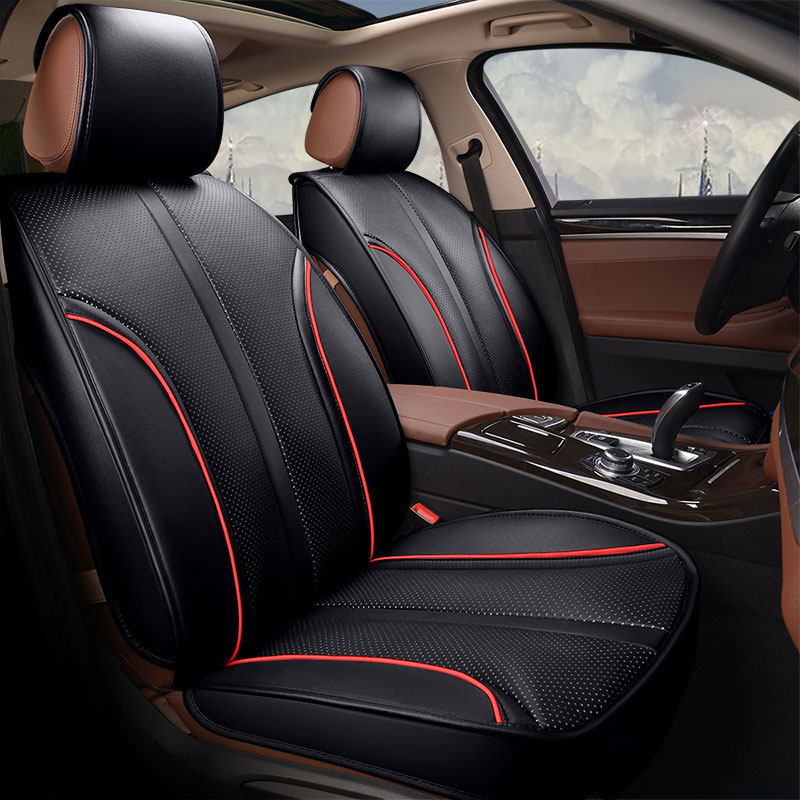 pu leather auto universal car seat cover covers for cadillac cts xts xt5 ats sls ct5 ct6 escalade zotye t600 2010 2011 2012 2013