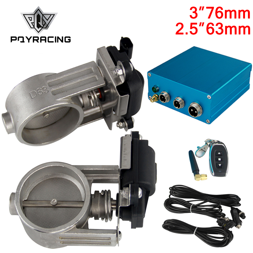 Exhaust Control Valve Dual Set w Remote Cutout Control For 2 5 63mm 3 76mm Pipe
