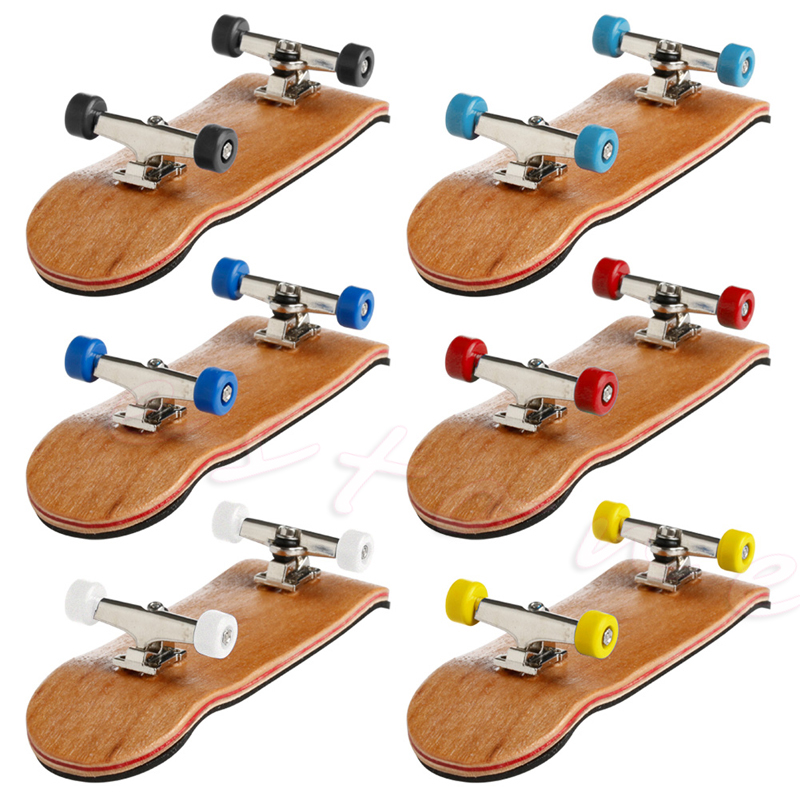 1 Set Wooden Deck Fingerboard Skateboard Sport Games Kids Gift Maple Wood