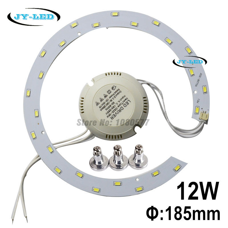 12w SMD 5730 LED Ceiling Lights Board LED Remould Plate Ring Disc Lights With Magnet Screw