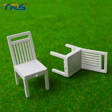 Teraysun architecture Scenery 1/20 ABS plastic Chair  Miniature Scale Model for model train layout