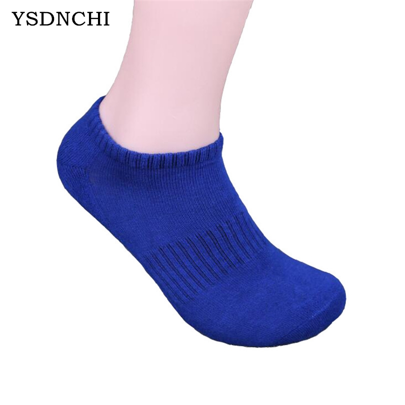 YSDNCHI Men's Casual Short Socks Breathable Cotton Male Socks Tube Elastic Cotton High Quality 5 Pure Colors Boat Sock One Pair