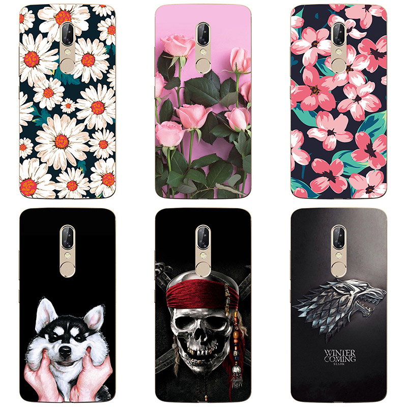 Soft silicone Phone Cases For ZTE AXON 7S <font><b>A2018</b></font> Soft TPU Material Back Cover Coque Print painting Flower style image