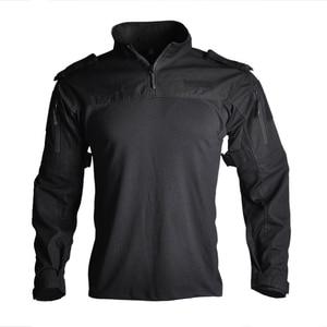 "Image 3 - גברים צבאי טקטי חולצה ארוך שרוול SWAT חיילים לנשימה מהיר יבש Combat T חולצה Airsoft בגדי איש של צבא ארה""ב חולצות"