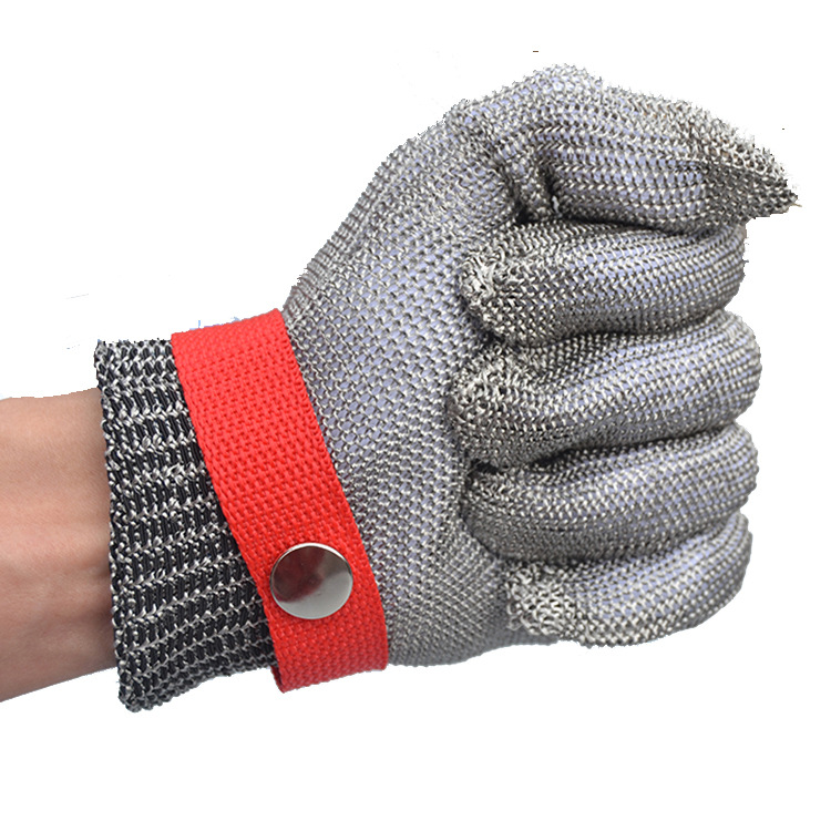 1pcs Steel Wire Cut-proof Stab-resistant Gloves Metal Protective Gloves Preparation Process Wear-resistant Labor Protection High Standard In Quality And Hygiene