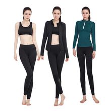 2018 New Women Yoga Set Elastic Jackets+T-Shirts+Sports Bras+Pants 4 Pcs Gym Clothes Breathable Wear Fitness Slim Fit Sport Suit