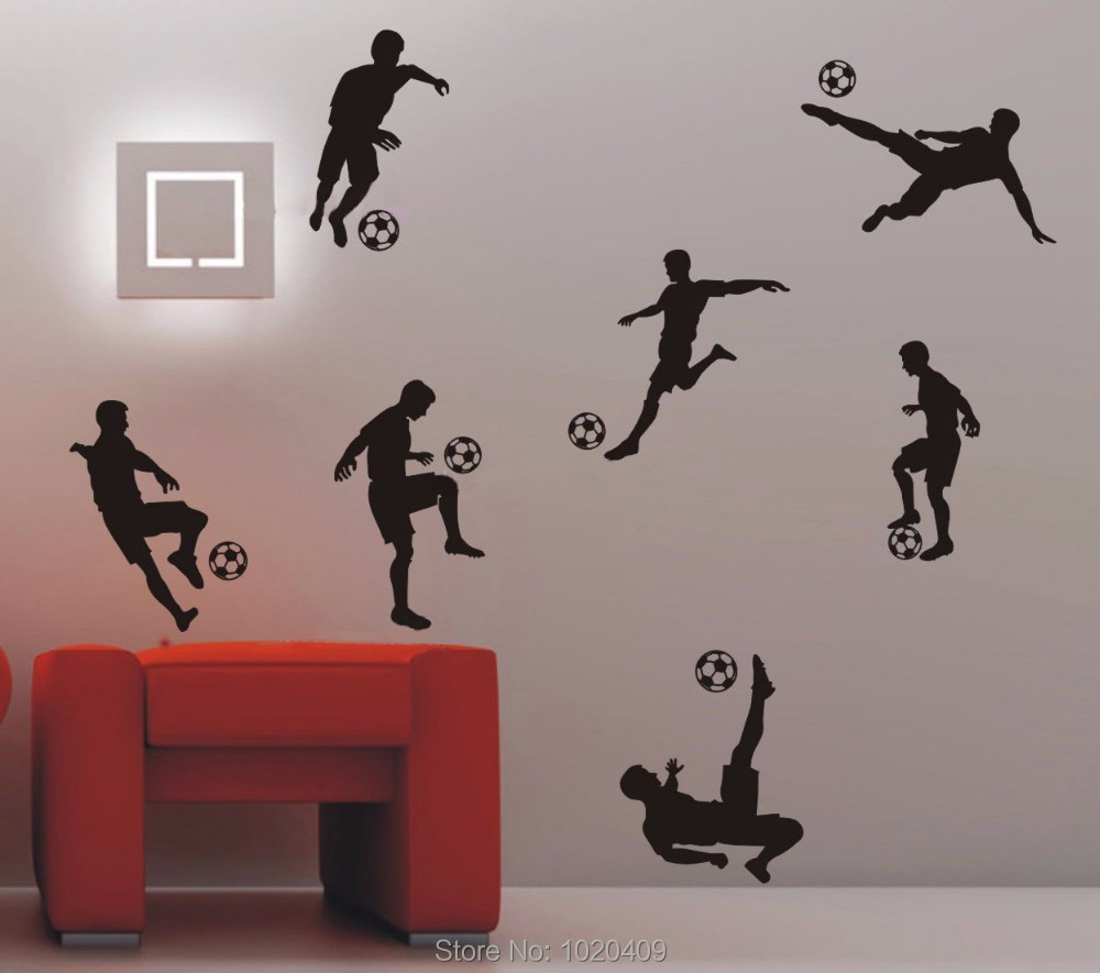 popular football wall stickers for kids rooms boys buy cheap soccer football 3d bang wall stickers home decor wall decal for kids room sport play boy