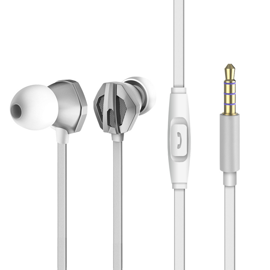 New Arrival Portable Wired In ear earphone With Microphone For iphone Samsung Xiaomi Huawei Android Handsfree call Headset in Phone Earphones Headphones from Consumer Electronics